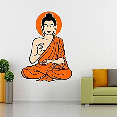 Buy Yogi Buddha Multi Color Wall Sticker at Lowest Prices in India | Wall Art - SRG India  #wallart #design #homedecor #home