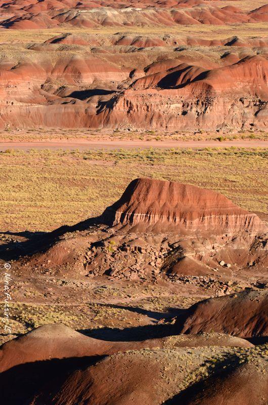 Late afternoon on the Rim Trail, Painted Desert at Petrified Forest National Park, Arizona.                              ➳ʈɦuɲɖҽɽwσℓʄ➳