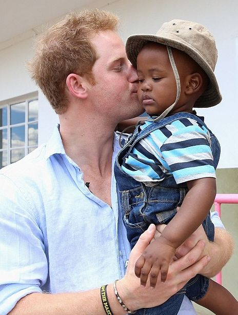 Prince Harry in his recent Sentebale trip . who wouldn't love a man like this??