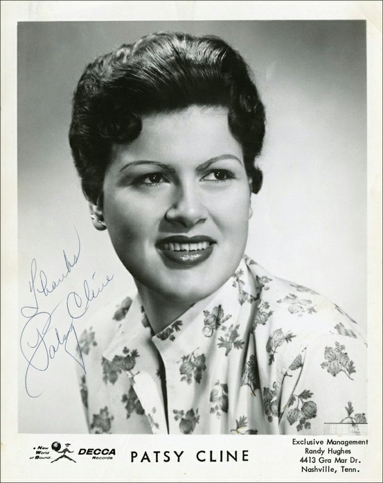 "PATSY CLINE ~ A year later, she married Gerald Cline, and her name was solidified. In '57, she landed a spot on ""Arthur Godfrey's Talent Scouts."" She wowed the audience singing ""Walkin' After Midnight,"" and WON the competition. The song hit the country and pop charts. Soon after, she divorced her husband. In the early '60's, she joined the ""Grand Ole' Opry,"" and recorded one of her greatest hits ~ ""I Fall to Pieces."" The song hit the Top 10 on the Pop and Country charts!"