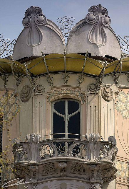 Pietro Fenoglio (1865-1927) - Balcony Detail. Casa Fenoglio-Lafleur. Turin, Italy. Circa 1902.