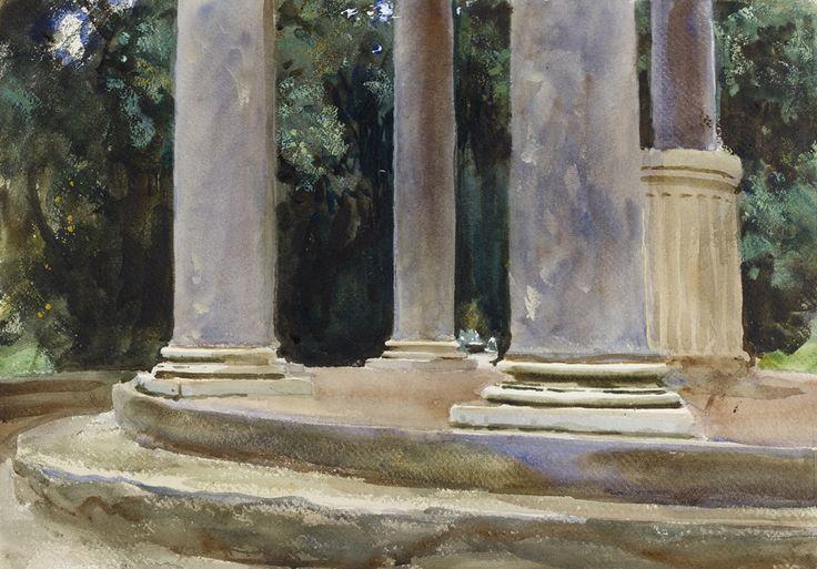 John Singer Sargent, Villa Borghese, Temple of Diana, c. 1906-07