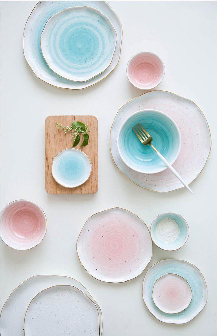 Hval Gold Stripe Porcelain Dinner Plates 4 10 Inch And Fish Plate Dishware Sets Plates Dinner Plates