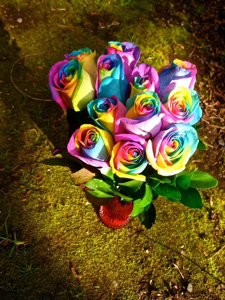 116 best images about decorative tie dye flowers on for How to make tie dye roses