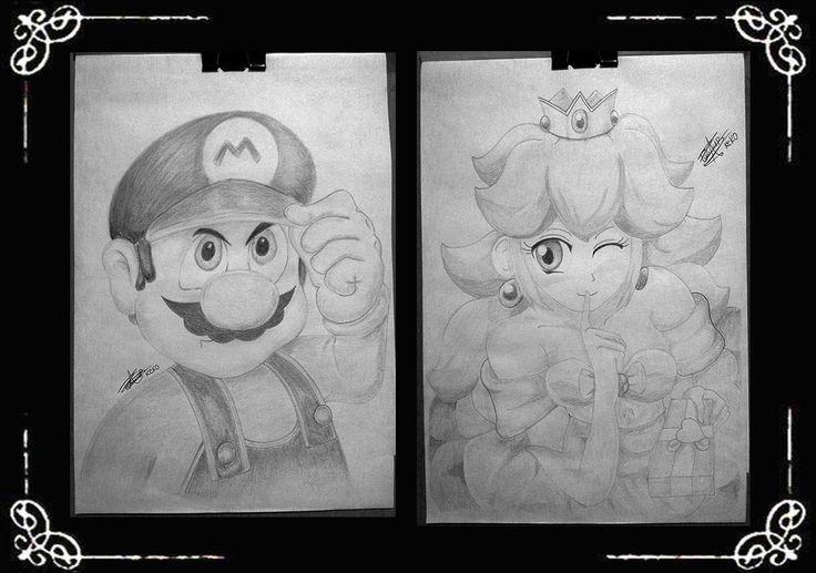 Mario y princesa Peach