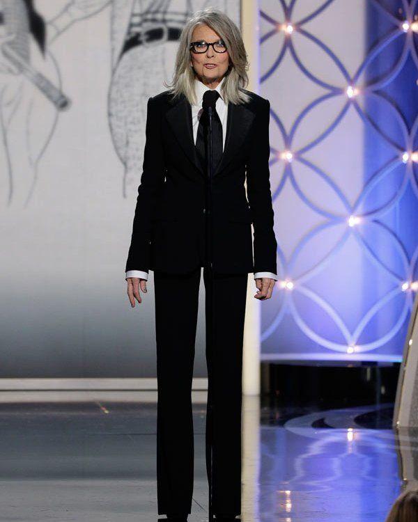 Diane Keaton Accepts Cecil B. DeMille Golden Globe Award For WoodyAllen
