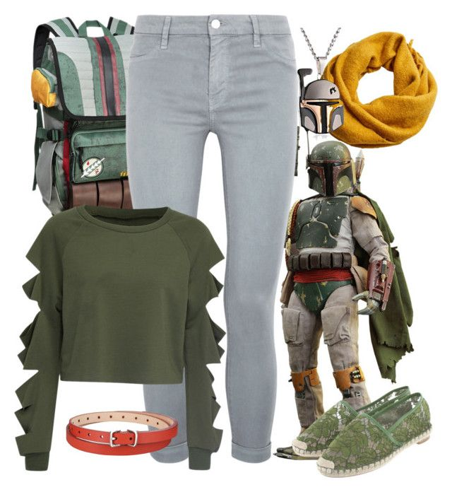 """Boba Fett"" by disney-nerd-designs ❤ liked on Polyvore featuring MANGO, J Brand, WithChic, Valentino, Uniqlo, disney, disneybound, starwars, bobafett and starwarssquad"