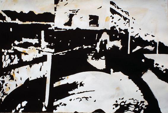 Sérgio Costa: Works - Sampling puzzle, 2004  acrylic on paper  70x104 cm