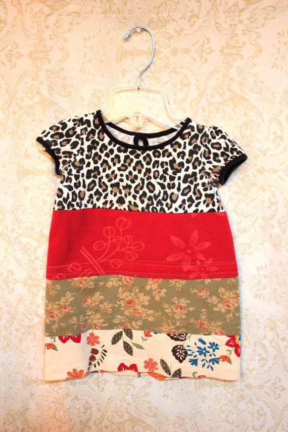 Boho Knit Little Girl's Shirt/Tunic, Funky Retro Bohemian Junk Gypsy Style