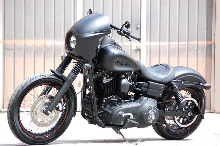Licensed Limited Edition SOA Harley-Davidson Motorcycle - Customized 2010 Matte Black HD Street Bob