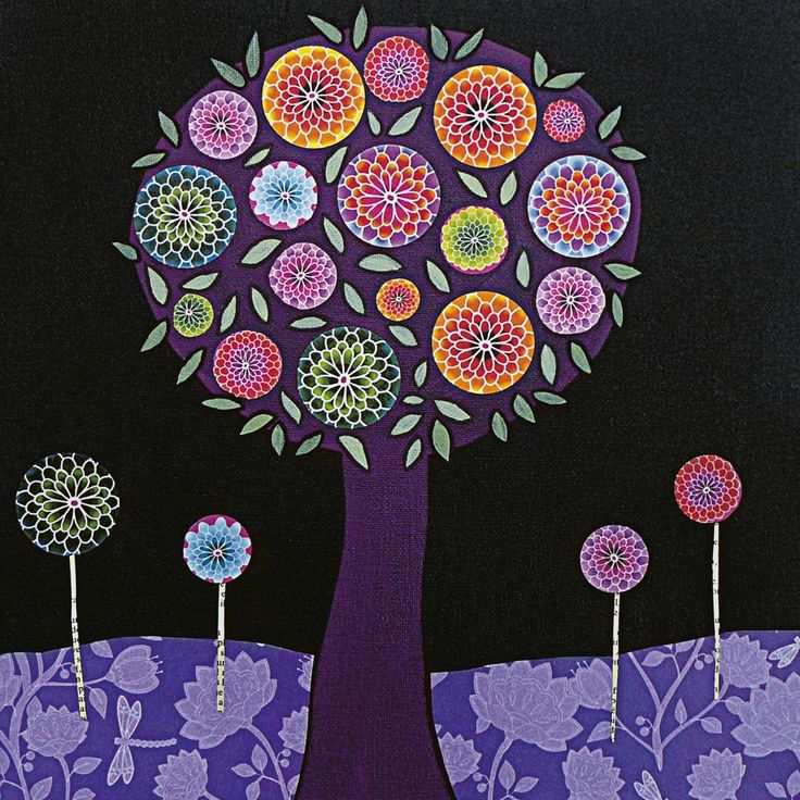 tree artwork   Surreal Art: Piet Mondrian's abstract trees art painting