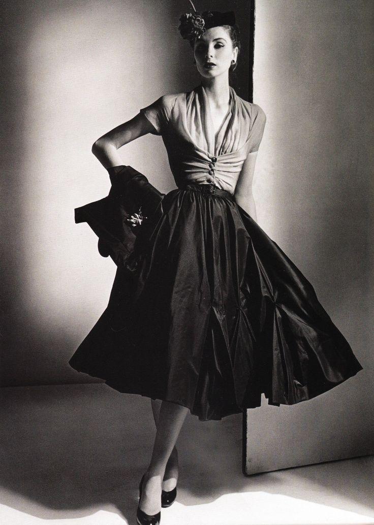 Dior 1950 Model Wearing Dior 1950s Vintage Dior