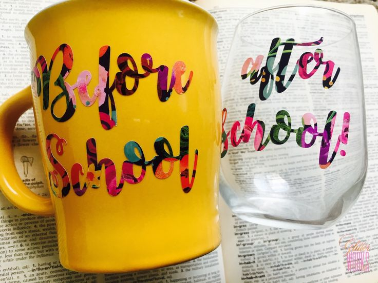 "Glitter Works Events presents ""The Perfect Combo""!The perfect vibrant mug for your hot coffee before school, and a crystal wine glass just right for the wind down. This set is also ideal for graduation and end-of-school year's gifts! Click the link in bio http://www.giftideascorner.com/gift-for-teachers/"
