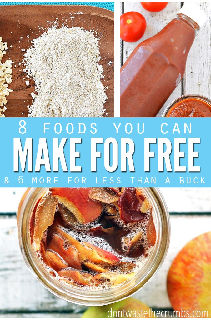 8 Foods you can make for free and 6 more that cost less than a dollar. Easy and…