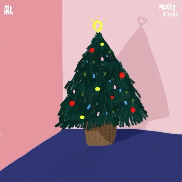 Lonely Christmas Tree #christmastree #illustration #art #lonely #love
