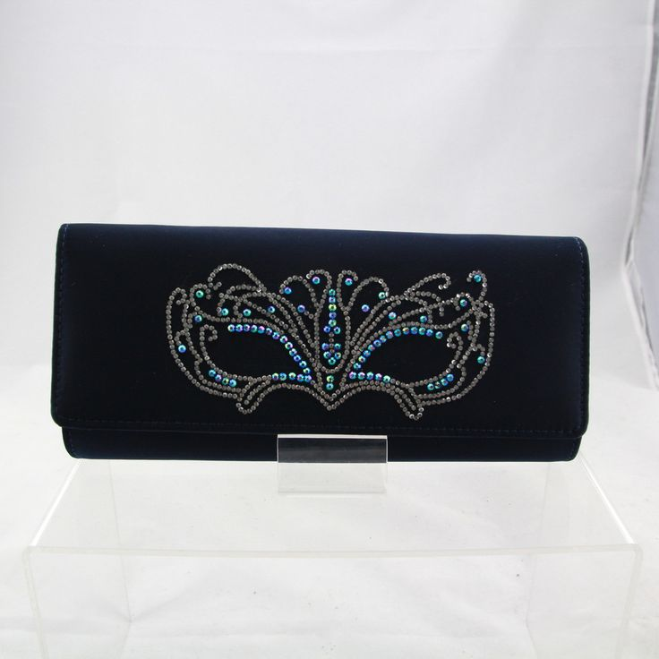 Hand Decorated Satin Evening Bag