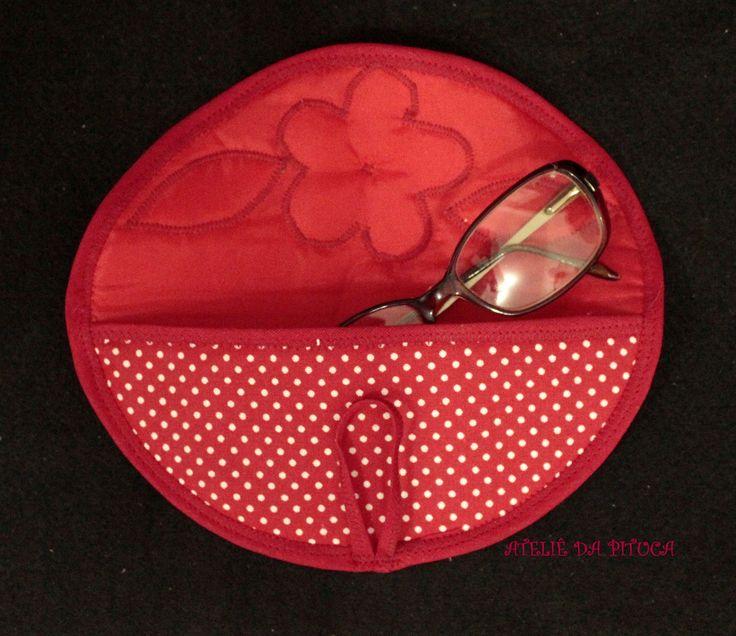 Parte interna porta oculos patchwork