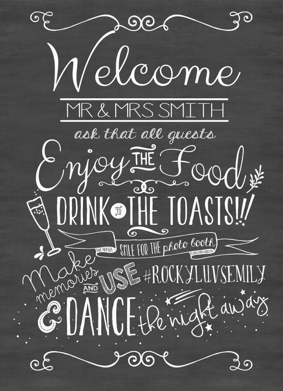 Hey, I found this really awesome Etsy listing at https://www.etsy.com/listing/200391340/wedding-chalkboard-sign-printable