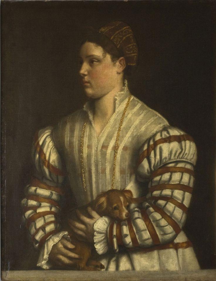 c. 1530 Portrait of Eleonora Averoldi Moretto da Brescia (Alessandro Bonvicino)…