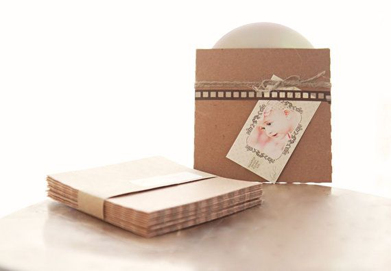 Recycled Kraft CD Sleeves Set of 100 by leboxboutique on Etsy, $49.60