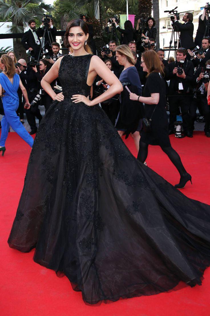 Sonam Kapoor in Elie Saab. Cannes Fashion - Red Carpet Dresses at Cannes 2014 - Harper's BAZAAR