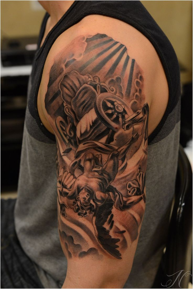 46 best images about angel tattoo ideas on pinterest sleeve angel statues and tattoo sleeves. Black Bedroom Furniture Sets. Home Design Ideas
