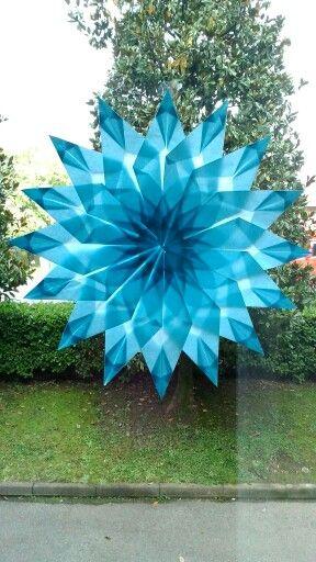 Stella origami con carta velina