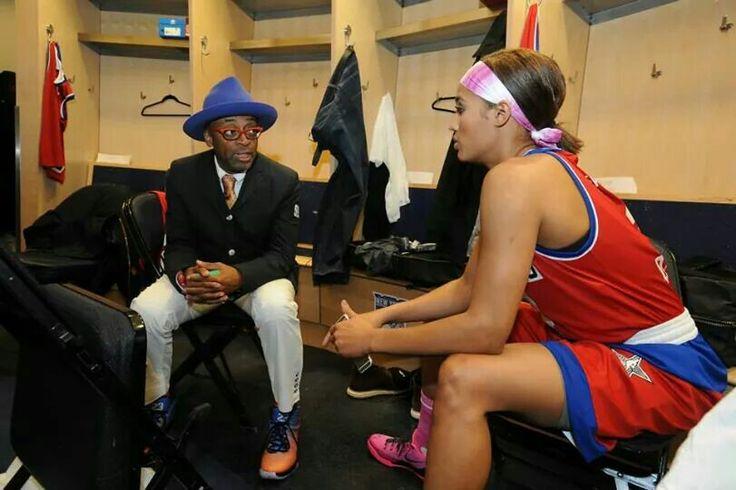 Spike Lee and Skylar Diggins talk strategy.