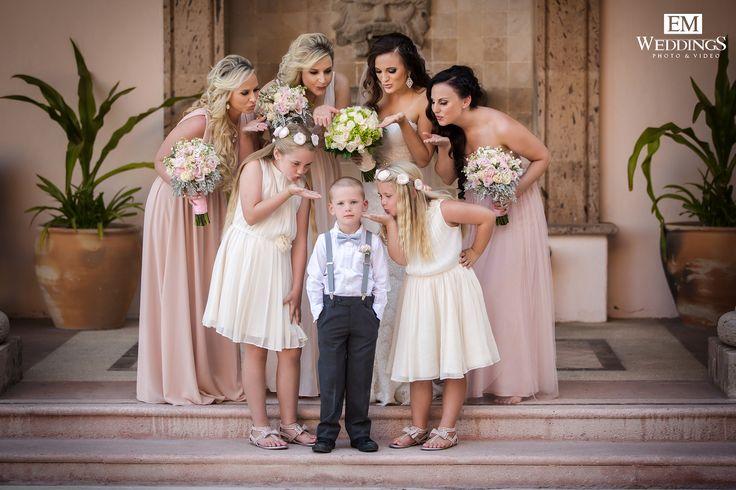 Bride and Bridesmaids at Pueblo Bonito Pacifica, Los Cabos. #emweddingsphotography #destinationweddings