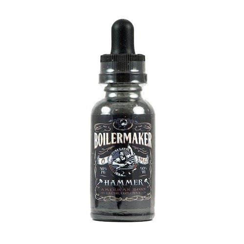 Boilermaker E-Liquid Hammer - Powerfully built from making lasting impressions, the loudly accentuated, hard hitting hammer is one you'll never forget. Thundering in magnanimous layers of crisp vanilla, savory butternut and hazelnut toffee. This flavor-dominated, taste-bud pulverizer will blow you away.