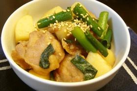 ジャガイモと鶏肉の煮物