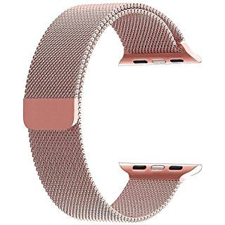 BRG Apple Watch Band, 38mm Milanese Loop Stainless Steel Bracelet Strap Replacement Wrist iWatch Band with Magnet Lock for Apple Watch – Original Rose Gold