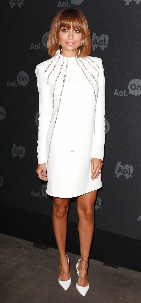 Nicole richie white dress aol news