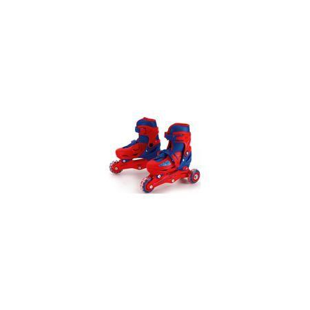 - Раздвижные ролики, Мстители, Next  — 3269р. ------------------ Характеристики роликов:  • Предназначение: для подвижных игр • Пол: для мальчика • Цвет: красный, синий • Материал: пластик, текстиль, металл • Количество колес: 4 шт. • Диаметр колес: 6*2,4 см • Регулировка размера • Тип застежки: клипса • Тип ботинка: жесткий  Для любителей подвижных игр на свежем воздухе Next предлагает раздвижные ролики, Мстители, которые сочетают в себе лучшие качества профессиональных роликов и требования…