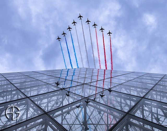National Day @ Louvre by A.G. Photographe, via Flickr --- Patrouille de France, 14 Juillet 2012