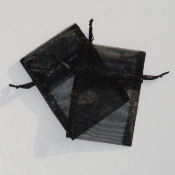 100 Black Organza Bags 50  3 x 4 inches and by BeautifulAdditions, $19.00