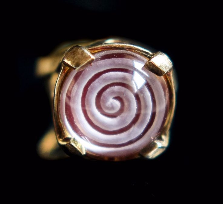 intaglio spiral, crystal quartz sterling silver gold plated ring, Greek jewelry #Cocktail #Engagement
