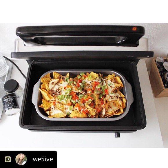 Tortilla Chips überbacken mit Käse und Chili im #mulexkontaktgrill  https://www.instagram.com/p/BSanyVEl3WR/?taken-by=kochvergnuegen