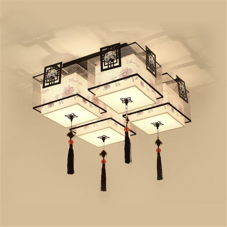 Inspirational BRIGHTLLT Eine neue moderne chinesische Wohnzimmer Deckenlampe quadratisch LED B geleisen Lampen Retro Schlafzimmer kreatives Studium