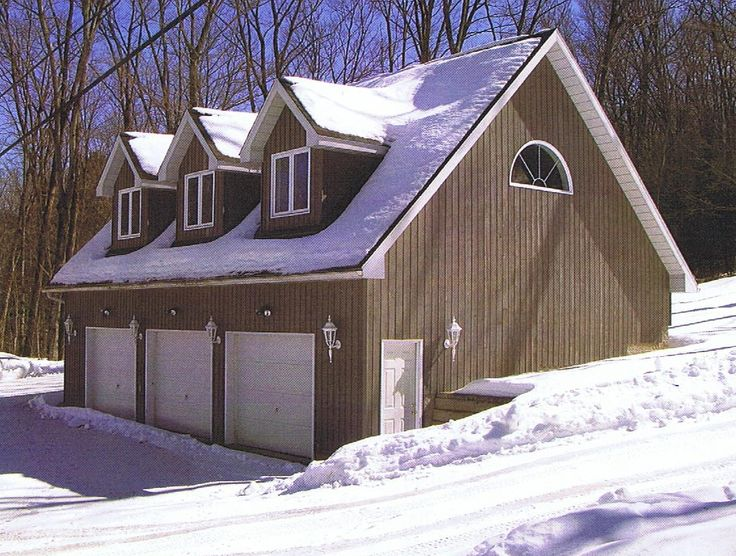 Best 25 3 car garage plans ideas on pinterest 3 car for Two story garage with loft