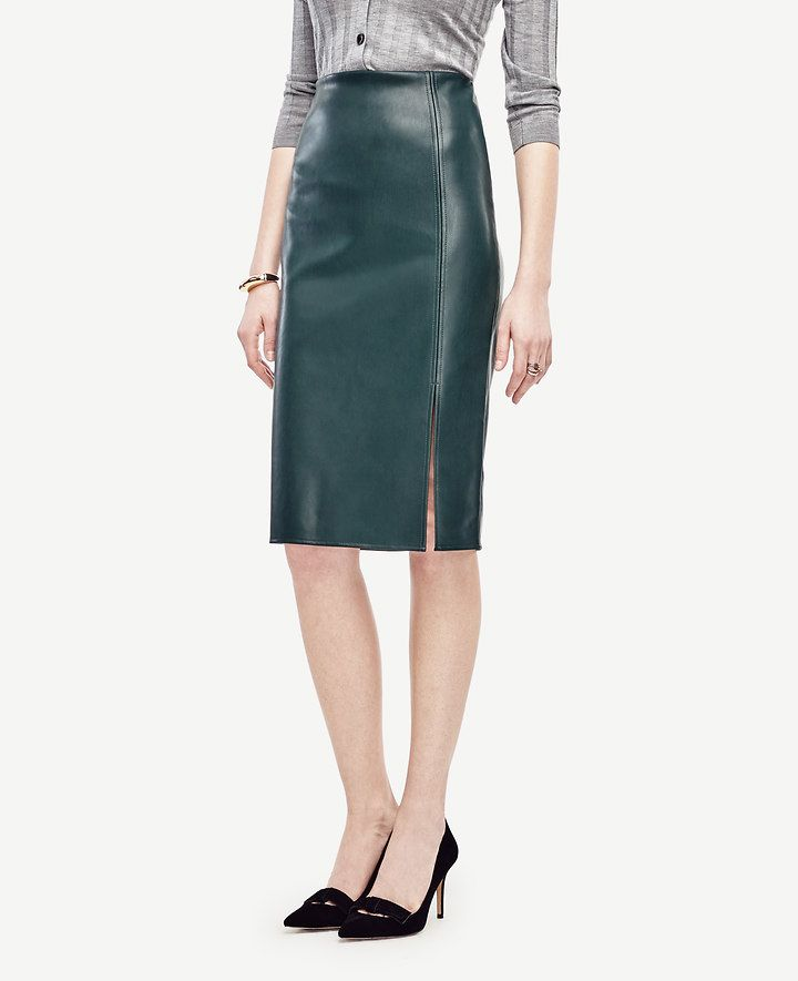 Faux Leather Pencil Skirt | Ann Taylor