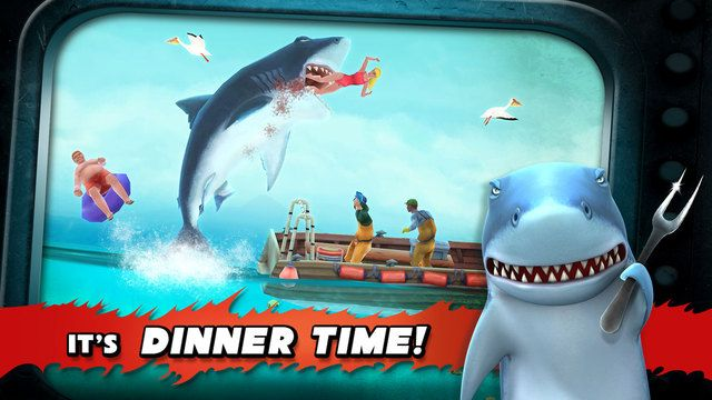 Yes it´s dinner time! Hungry shark on ios is rocking the house. You have a iphone? Then hungry shark evolution is a must have for you.