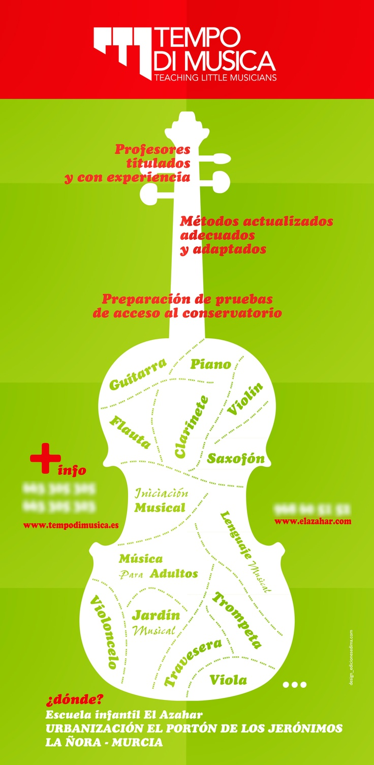 Cartel y Flyer para Tempo di Musica
