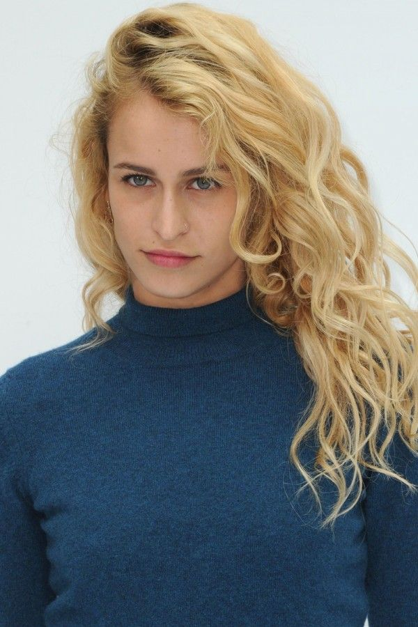Alice Dellal with champagne blonde locks