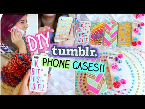 DIY Tumblr Inspired Phone Cases!! - YouTube