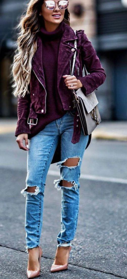 burgundy suede jacket