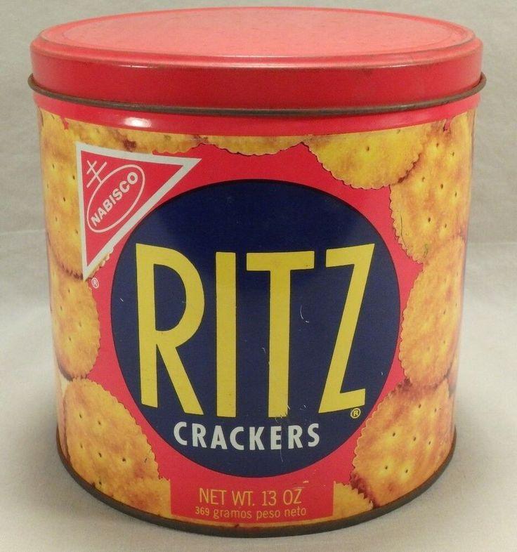 1977 Nabisco Ritz Crackers 13oz Round Storage Tin …