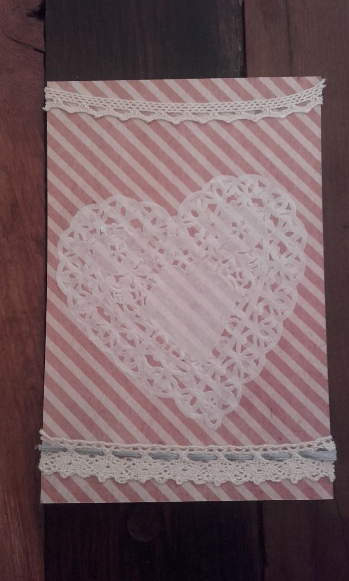 Carte de saint valentin vintage cœur en napperon : Cartes par la-petite-boutique-de-nini