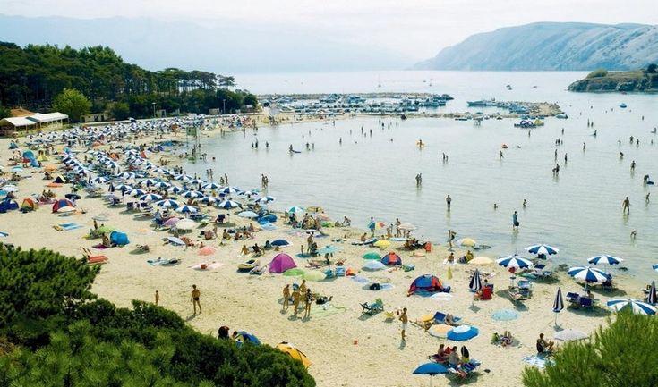 Rab island, Lopar: Rajska plaza (Paradise Beach)