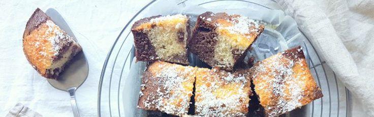 Chocolade kokos cake - Sukrin.nl #sukrin #suikervrij #glutenvrij #pannenkoeken #ontbijt #lowcarb #sugarfree #yummy #recipe #chocolade
